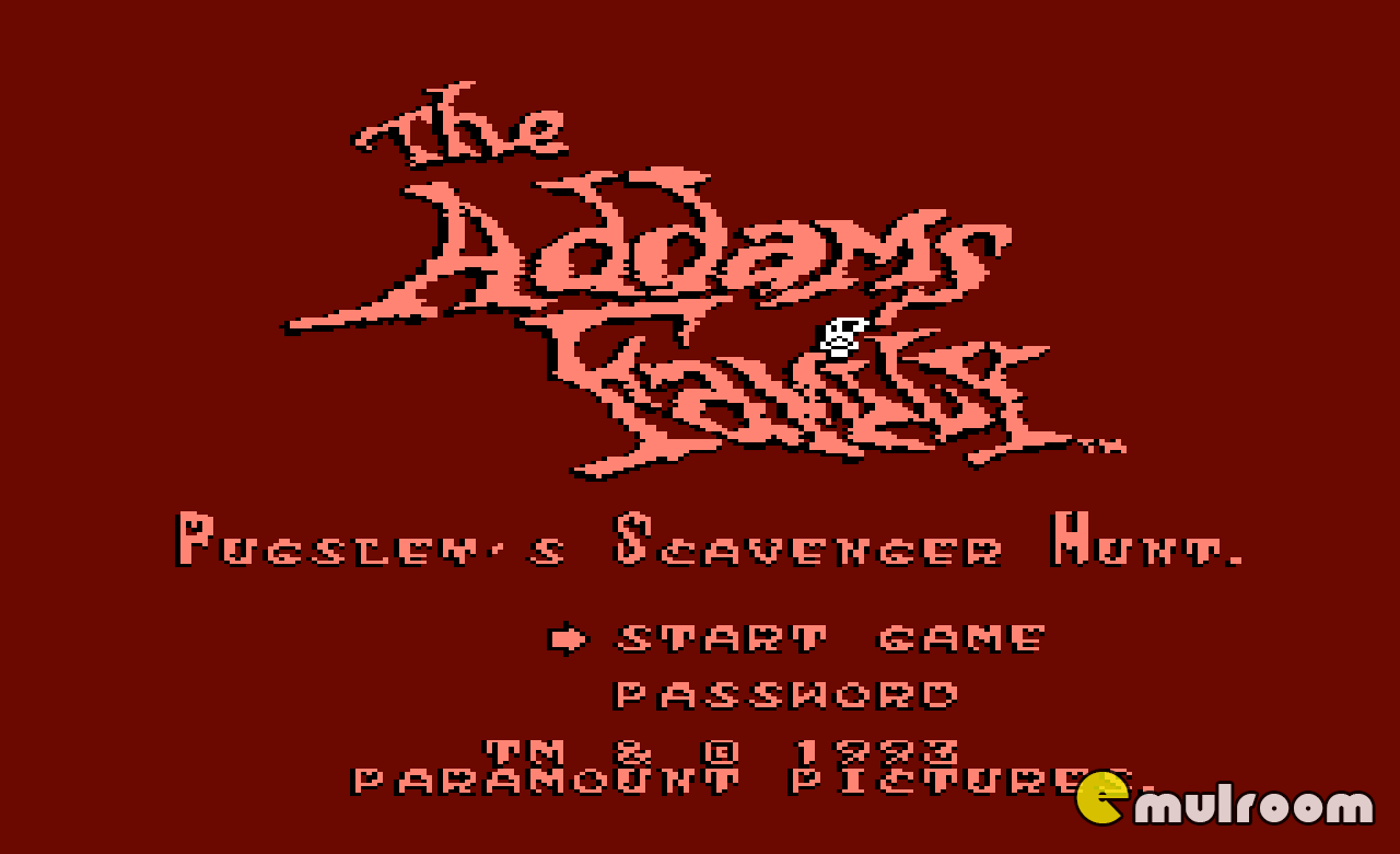 Addams Family — Pugsley's Scavenger Hunt, Семейка Аддамсов - Охота Пагсли денди игры, nes