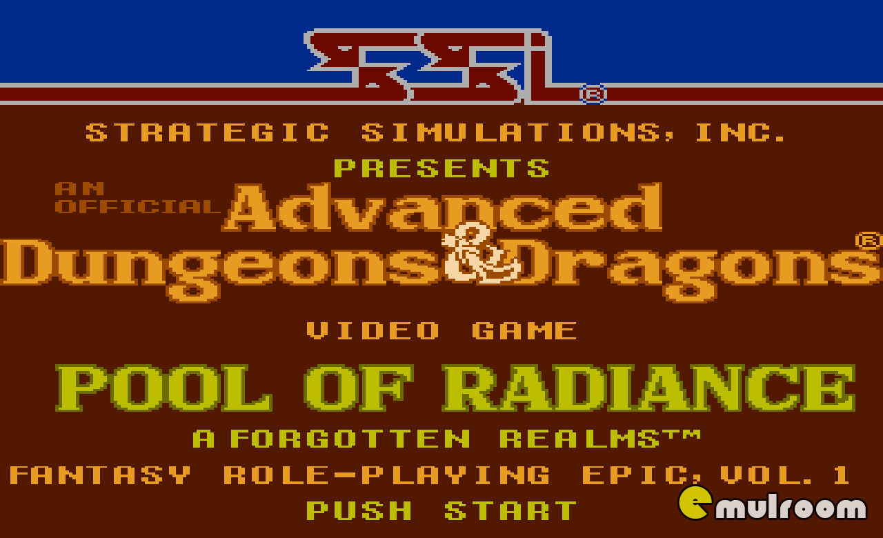 Advanced Dungeons & Dragons — Pool of Radiance,  денди игры, nes