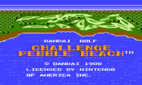 Bandai Golf Challenge Pebble Beach,  денди игры, nes