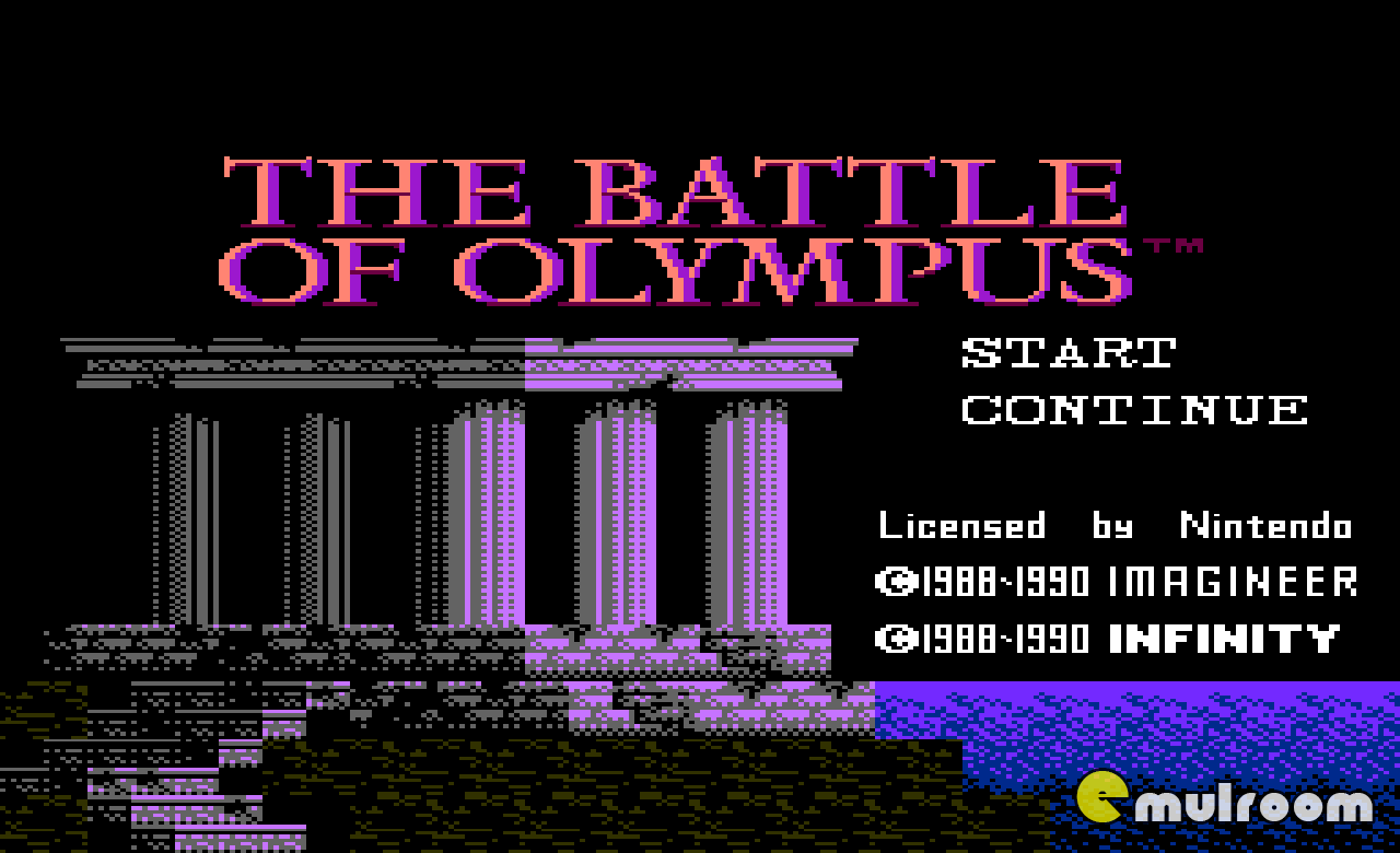 Battle of Olympus, Битва за Олимп денди игры, nes