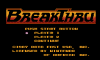 Breakthru,  денди игры, nes