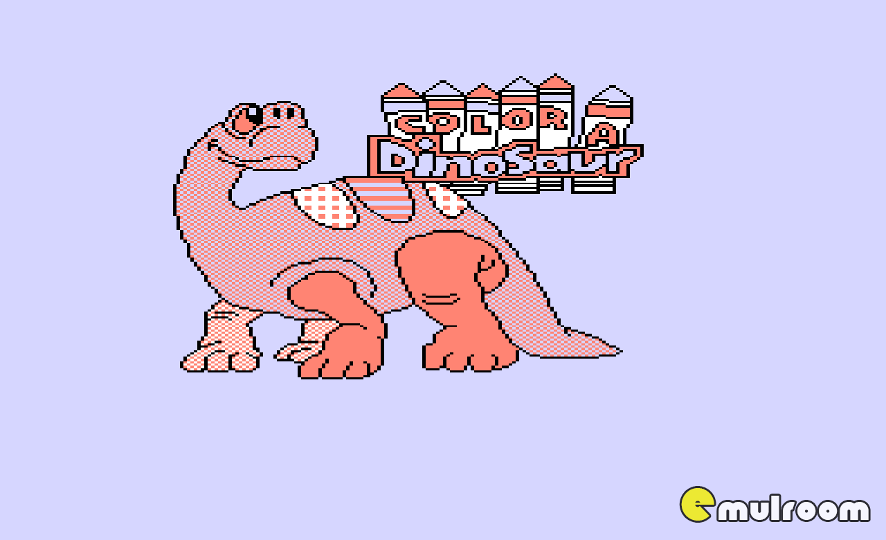 Color a Dinosaur, Раскрась Динозавра денди игры, nes