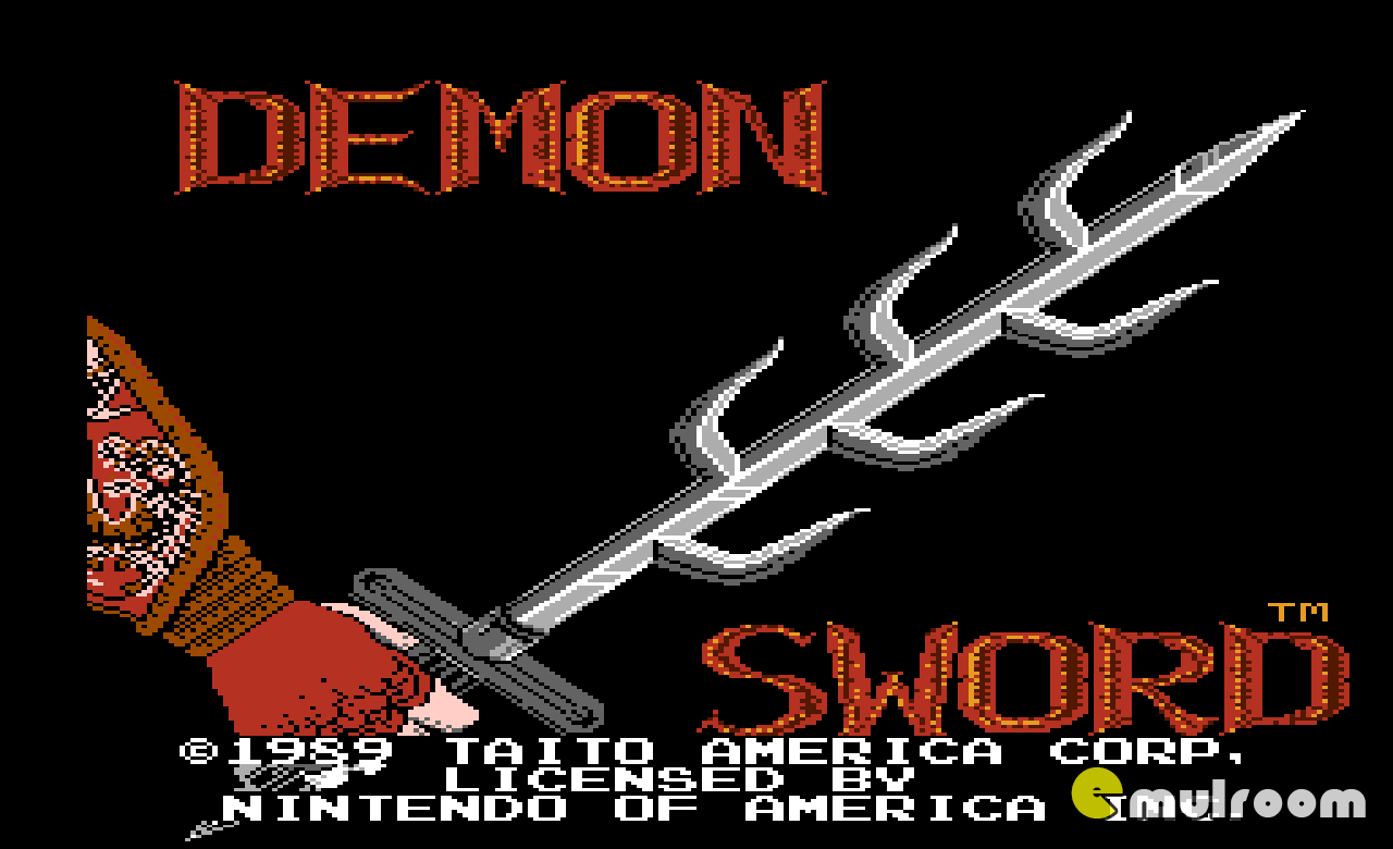 Demon Sword, Демонический меч денди игры, nes