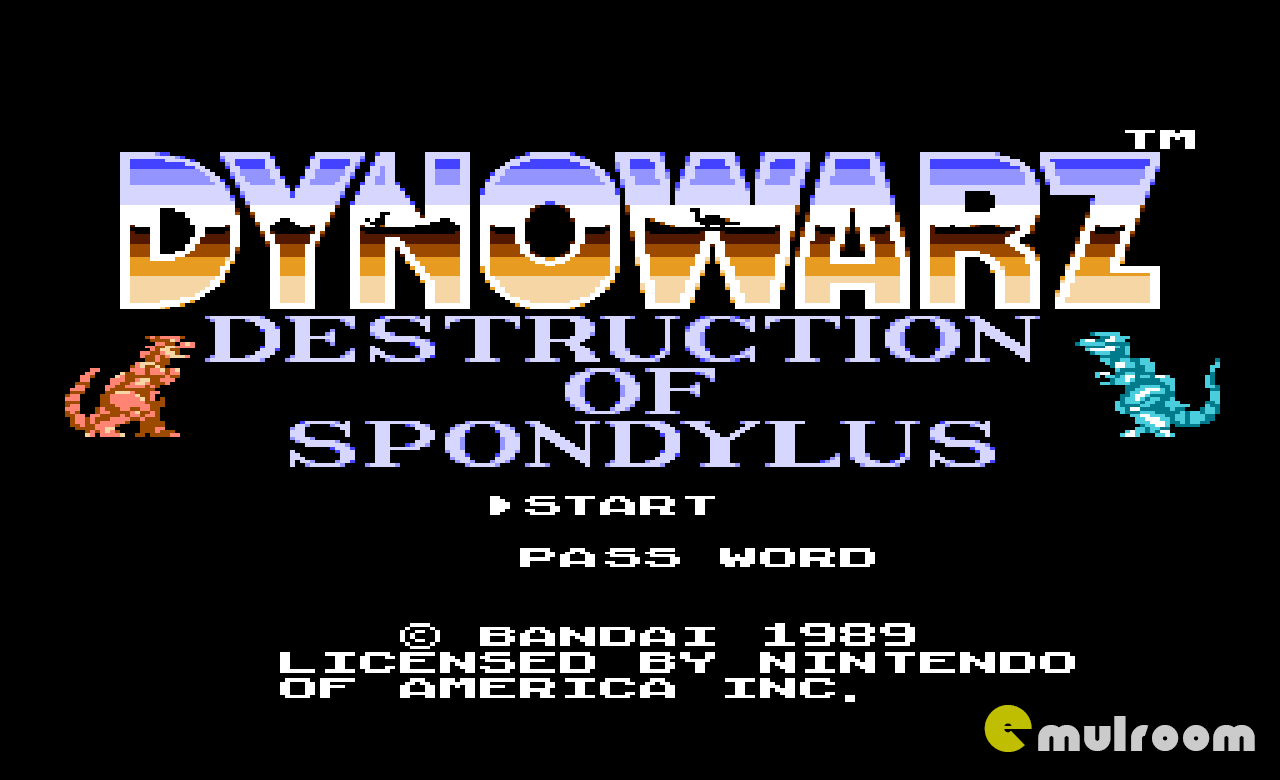 Dynowarz Destruction of Spondylus, Война Динозавров – Разрушения Спондилуса денди игры, nes