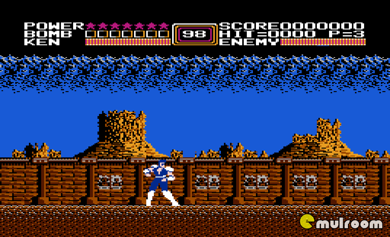 Fist of the North Star, Кулак Северной Звезды денди игры, nes