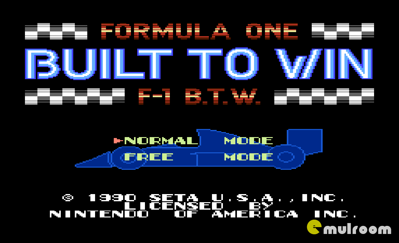 Formula One Built to Win, Формула один Создана для победы денди игры, nes