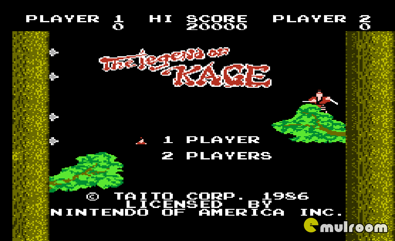 Legend of Kage, Легенда о Кейдже денди игры, nes