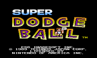 Super Dodge Ball,  денди игры, nes